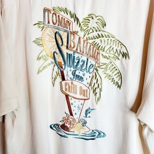 Tommy Bahama cream Swizzle Inn Chill Out top XL